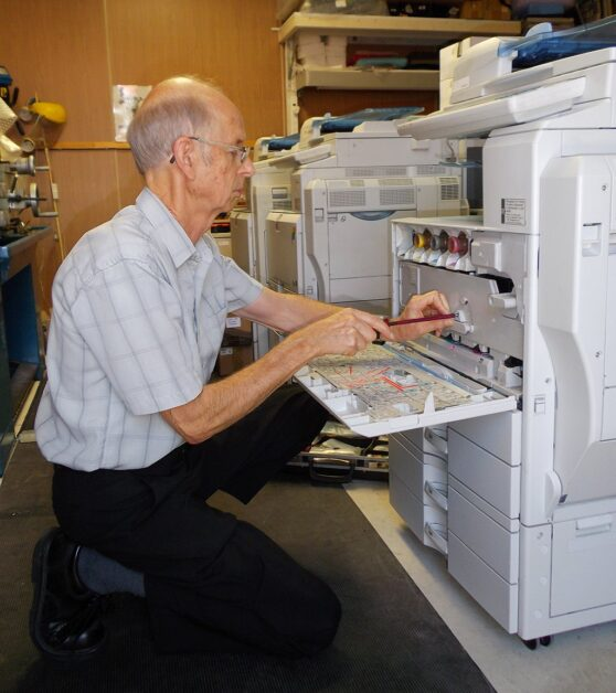 Copier Doctor fixing a Multifunction Printer